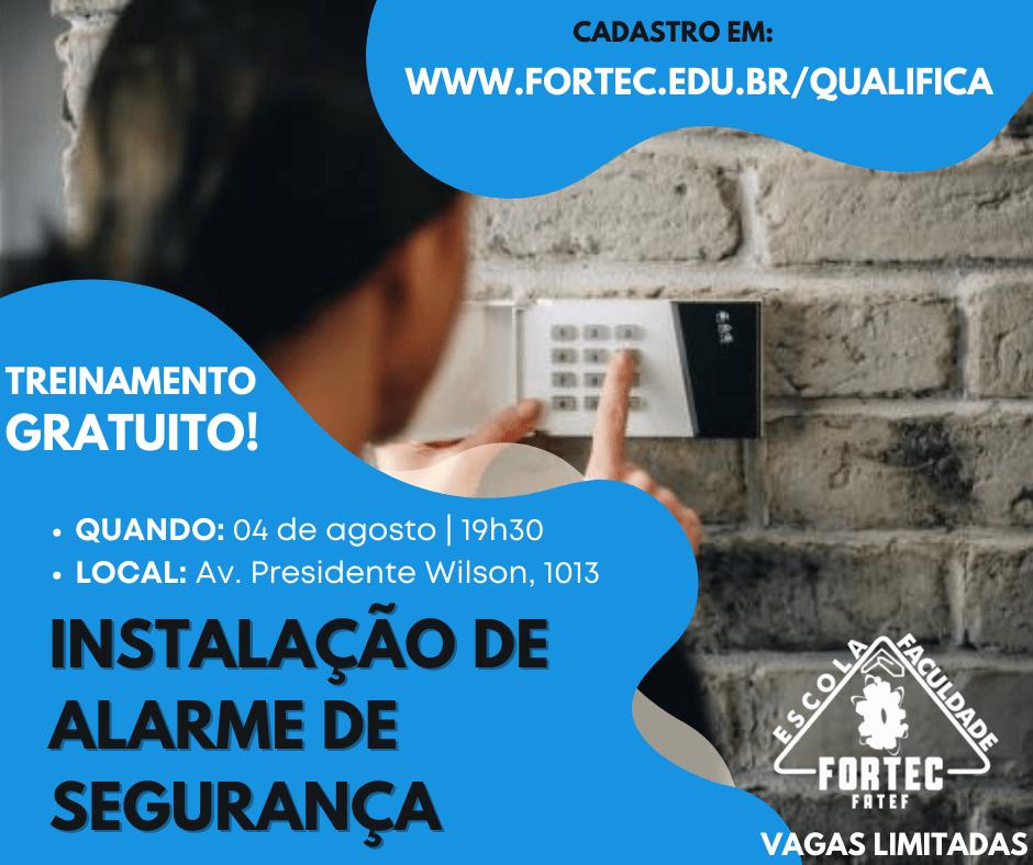 OK-INSTALAÇÃO DE ALARME DE SEGURANÇA