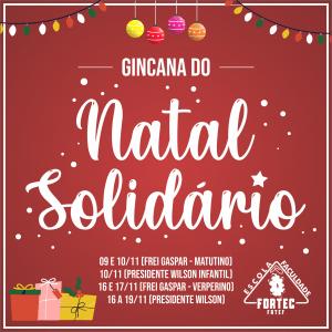 Participe da nossa Gincana do Natal Solidário!